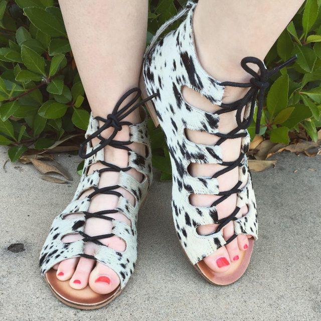 Cowhide Sandal